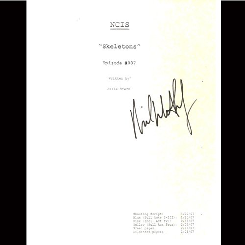 NCIS MICHAEL WEATHERLY SIGNED SCRIPT + COA