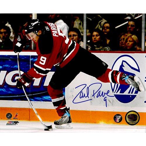 New Jersey Devils ZACH PARISE SIGNED 8x10 PHOTO + COA