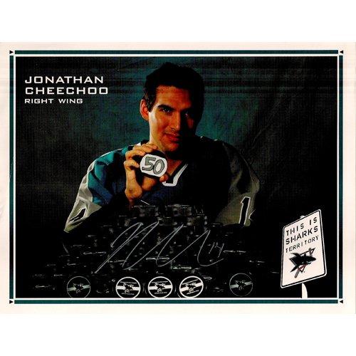 SAN JOSE SHARKS JONATHAN CHEECHOO SIGNED 8x10 PHOTO + COA