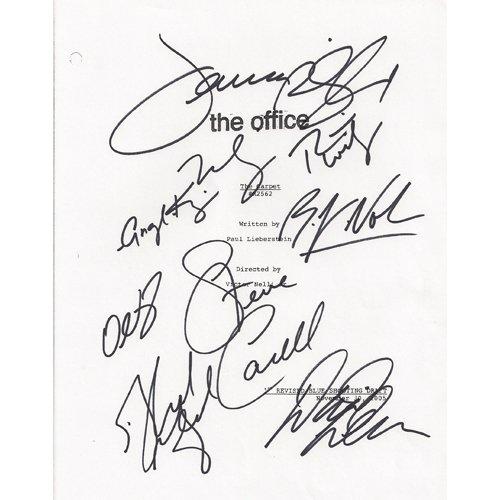 THE OFFICE SIGNED SCRIPT (9) SIGNATURES + COA