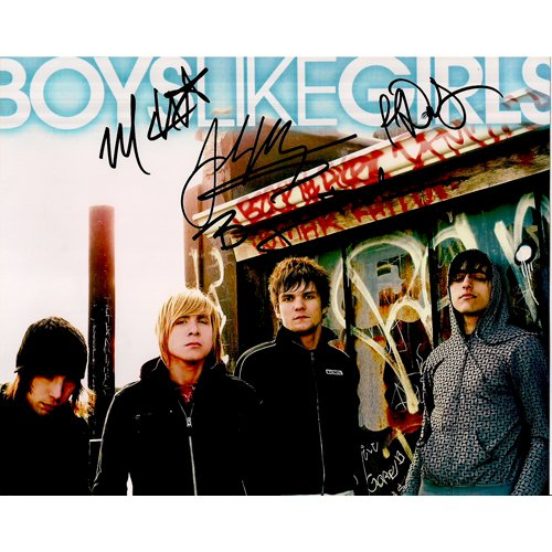 BOYS LIKE GIRLS SIGNED 8x10 PHOTO + COA
