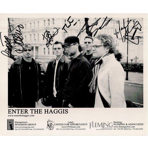 ENTER THE HAGGIS SIGNED 8x10 PHOTO + COA