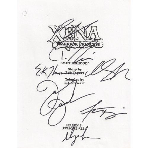 XENA SIGNED SCRIPT (7) SIGNATURES + COA
