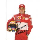FERRARI FELIPE MASSA SIGNED 5x8 PHOTO + COA