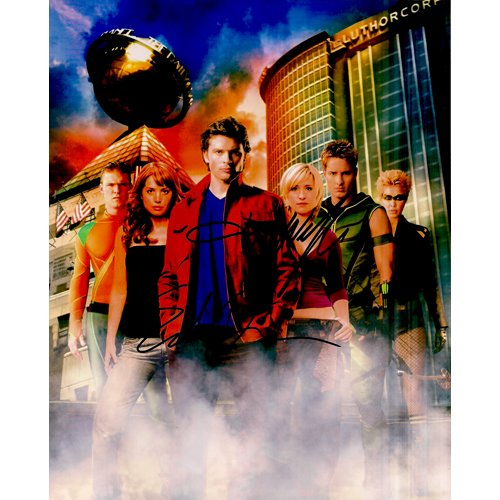 SMALLVILLE DURANCE & WELLING SIGNED 8x10 PHOTO + COA
