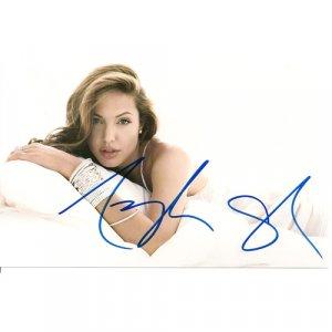 FILM ACTRESS ANGELINA JOLIE SIGNED 4X6 PHOTO + COA