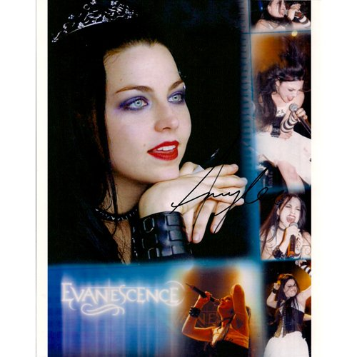 """EVANESCENCE"" AMY LEE SIGNED 8x10 PHOTO + COA"
