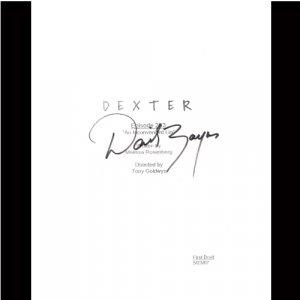 DEXTER DAVID ZAYAS SIGNED SCRIPT SIGNATURE + COA