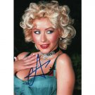 CHRISTINA AGUILERA SIGNED 5x7 PHOTO + COA