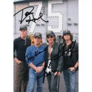 AEROSMITH GROUP 4 SIGNED 5X7 PHOTO + COA