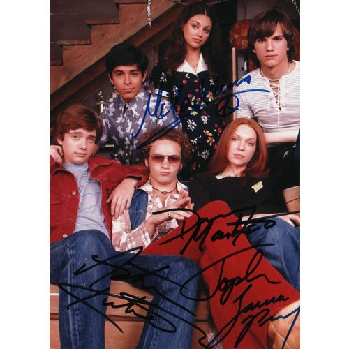 THAT '70s SHOW CAST 5 SIGNED 5X7 PHOTO + COA