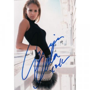 Movie Actress JESSICA ALBA SIGNED 4x6 PHOTO + COA