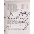 LAW & ORDER SIGNED (6) SIGNATURES SCRIPT + COA