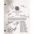 BOSTON LEGAL SIGNED SCRIPT (7) SIGNATURES + COA