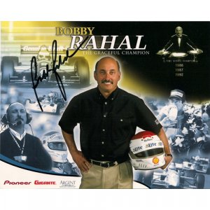 BOBBY RAHAL SIGNED 8x10 PHOTO + COA