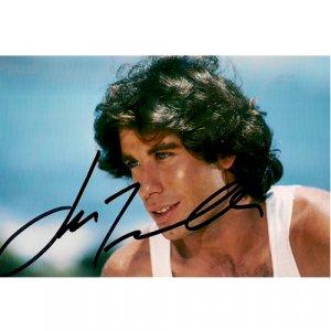 JOHN TRAVOLTA SIGNED 4x6 PHOTO + COA