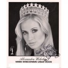 MISS WISCONSIN  USA 2009 ALEXANDRA WEHRLEY SIGNED 8x10 PHOTO