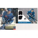 ANTON STASTNY JERSEY PIECE & SIGNED CARD