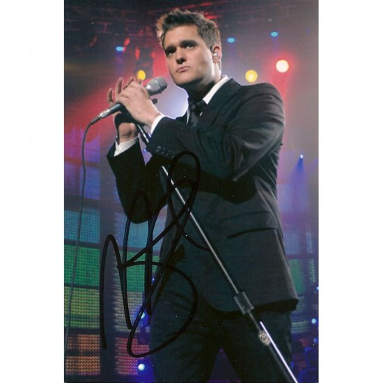 MICHAEL BUBLE SIGNED 4X6 PHOTO CALL ME IRRESPONSIBLE