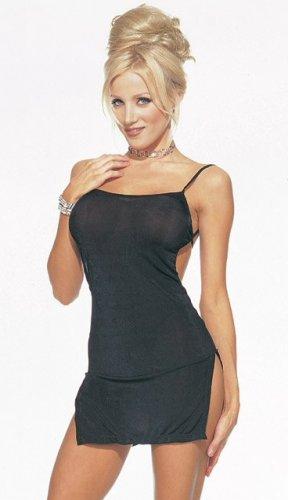 Black Open Back Mini Dress