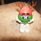 Christmas Green Mini Reindeer Red Hat Container