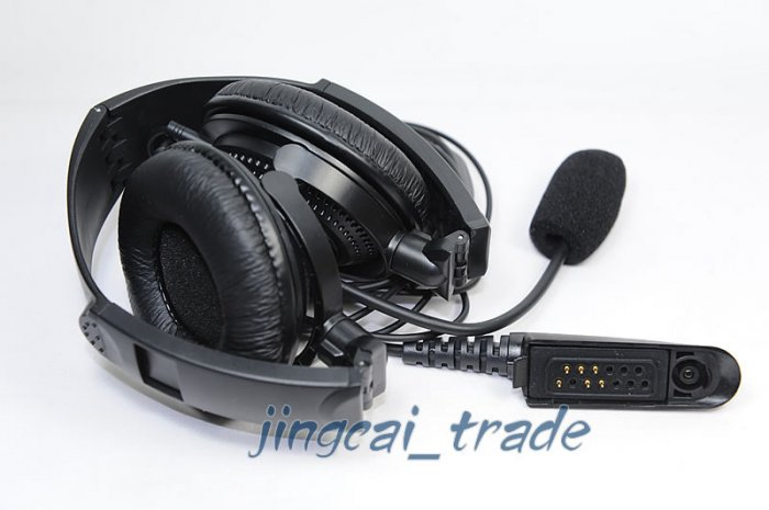 Overhead Headset with boom mic for Motorola GP328 GP340