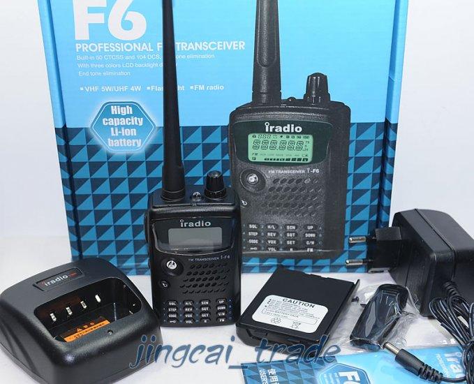 New! iRadio F6 VHF 136-174MHz Ham Radio + Free Earpiece
