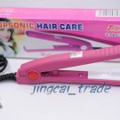 Compact Straightener Mini Hair Iron Portable Pink New!