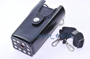 Hard Leather Case For Motorola 2-Way Radio GP88 GP300