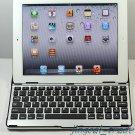 iPad2 Aluminum Case Cover w/ Bluetooth Wireless Keyboard For Apple iPad 2 Black