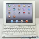 iPad2 Aluminum Case Cover w/ Bluetooth Wireless Keyboard For Apple iPad 2 White