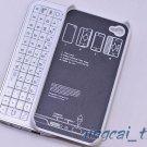 White Sliding Wireless Bluetooth Keyboard + Hardshell Case for iPhone 4 & 4S