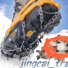Orange Colour Portable 8-Teeth Camping Climb Ice Crampon Ice Walking Cleat New!