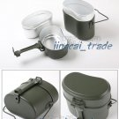 Army Green Camping Cookware Set Hiking Survival Bento Lunch Box Canteen Kettle