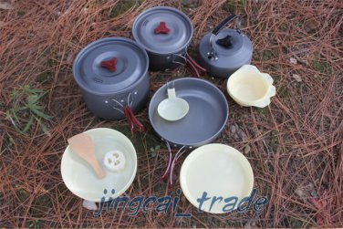 Pot Pan Kettle Camping Cookware Hiking Cooking Picnic Set RT-205 for 4-5 person