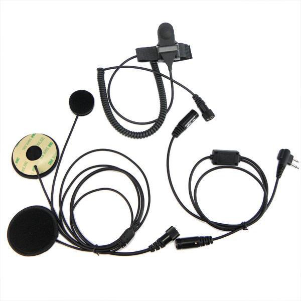 Motorcycle Helmet Headset Earpiece For Ham Radio for MOTOROLA HYT 2-PIN Radio
