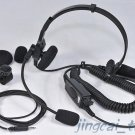 Heavy Duty Headphone Headset for Motorola GP-328 GP-340 with Helmet Boom Mic