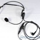 2 PIN Headphone Headset for Motorola GP300 CP200 HYT TC-600 TC-700 with boom mic