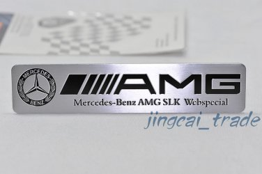 Benz AMG SLK Webspecial Aluminium Decal Badge Emblem Universal for Auto Car SUV