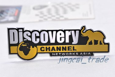 Discovery Channel Aluminium Decal Badge Emblem Universal for Auto Car SUV Truck