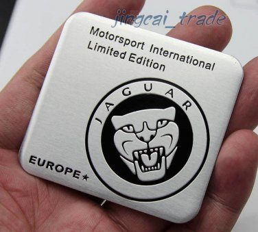Jaguar Motor Sport Limited Europe Aluminium Decal Badge Emblem for Auto Car Van