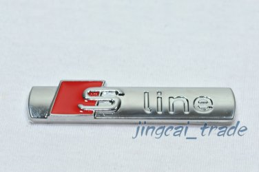 Audi S Line Sline 3D Car Emblem Badge Sticker Decal Chromed Metal Self-Adhesive