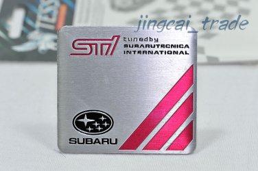 SUBARU STi Aluminium Decal Badge Emblem Universal for Auto Car Van SUV