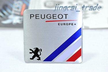 PEUGEOT Europe Aluminium Decal Badge Emblem Universal for Auto Car Van SUV
