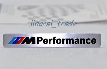 ///M Performance Car Aluminium Decal Badge Emblem Universal for BMW Auto Silver