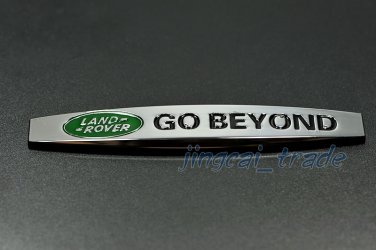 Land Rover GO BEYOND 3D Car SUV Fender Emblem Badge Sticker Decal Chromed Metal