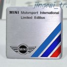 MINI Motor Sport Limited Aluminium Decal Badge Emblem Universal for Auto Car SUV
