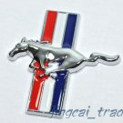 3D Ford Mustang Dashboard Car Emblem Badge Chromed Metal Tri-Bar Running Horse