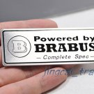 """Powered by BRABUS "" Aluminium Decal Badge Emblem Universal for Auto Car Van SUV"