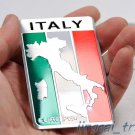 Italy Map Flag Aluminium Decal Badge Emblem Sticker Universal for Auto Car SUV